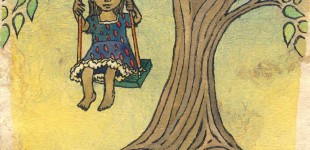 the text is Malayalam for 'tree swing'