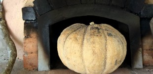 Ruth Reichl's pumpkin soup recipe comes to La Ceiba (always measure your pumpkin before filling).