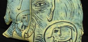 Expecting Elephants, stuffed prints